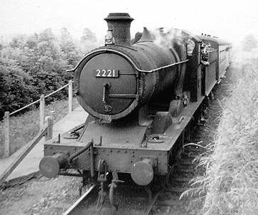 2221 departing from Cassington Halt in 1949