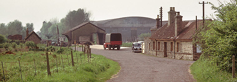 Brize Norton & Bampton station from the approach road