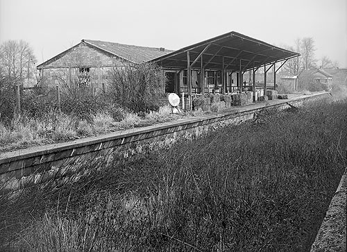 Carterton station after closure