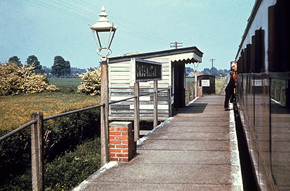 Cassington Halt in 1962