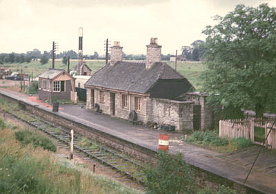 Lechlade station after closure 30 June 1963