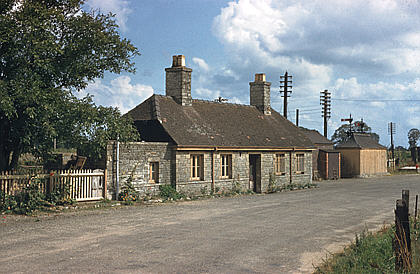 Lechlade station from the approach road