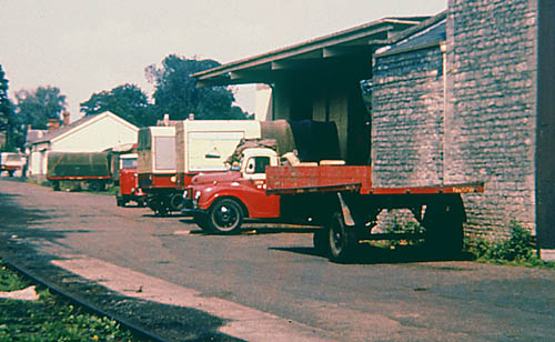 Lorries near Witney goods shed