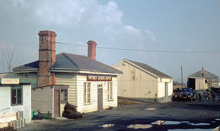Witney's original station building and goods shed
