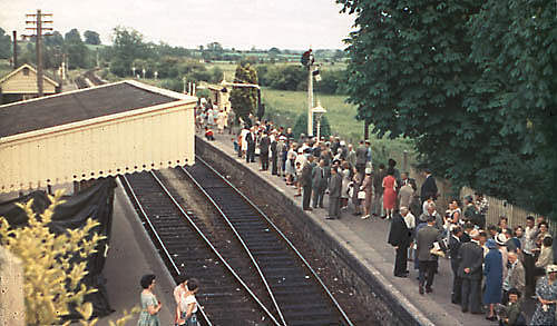 Witney Station on the last day of passenger services