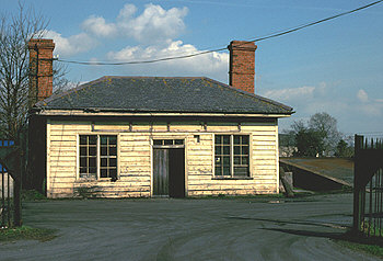 Witney Goods Depot (the original station building) on 23 March 1982